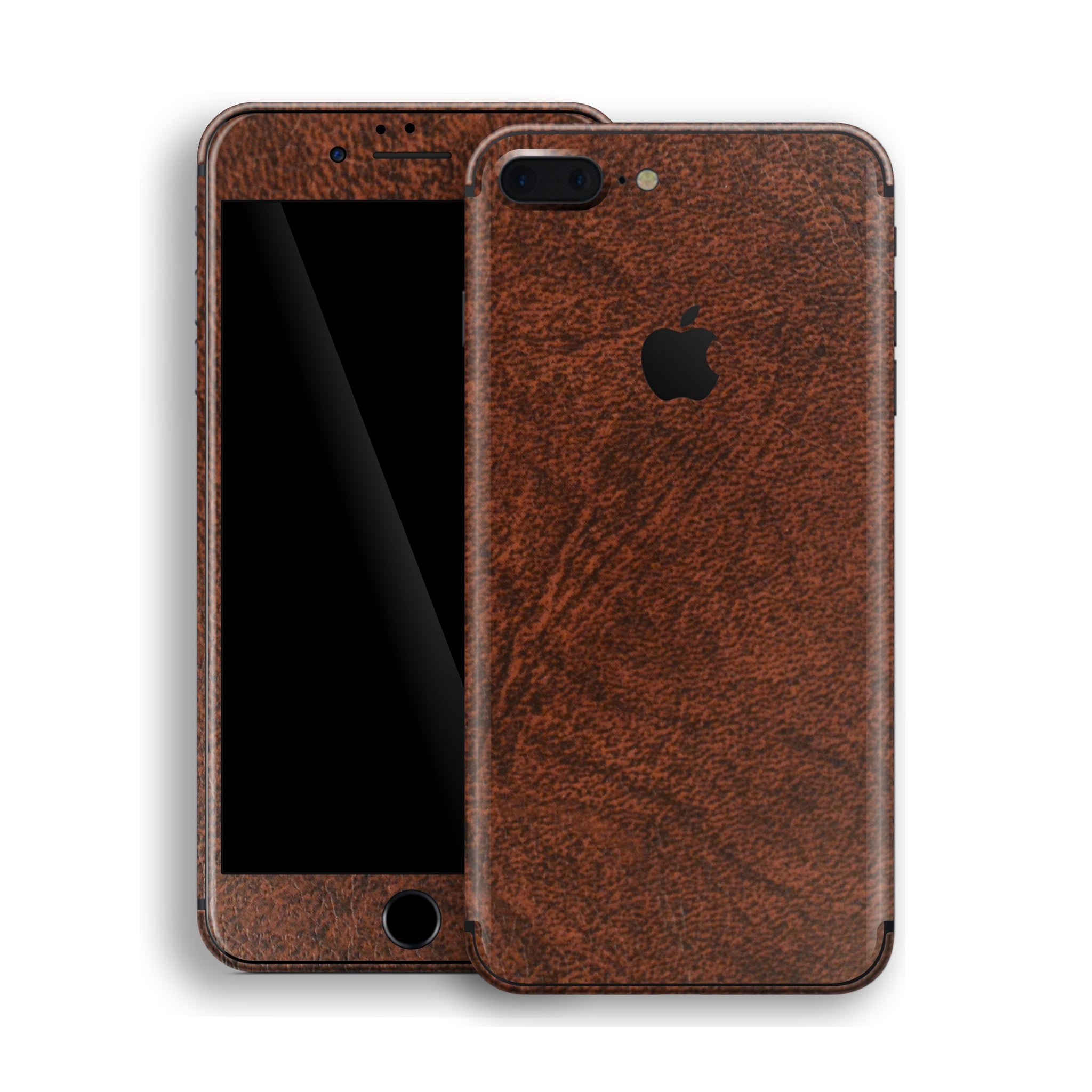 iPhone 8 PLUS Luxuria Brown Leather Skin Wrap Decal Protector | EasySkinz