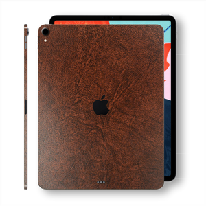 iPad PRO 11-inch 2018 Luxuria Brown Leather Skin Wrap Sticker Decal Cover Protector by EasySkinz