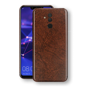 Huawei MATE 20 LITE Luxuria BROWN Leather Skin Wrap Decal Protector | EasySkinz