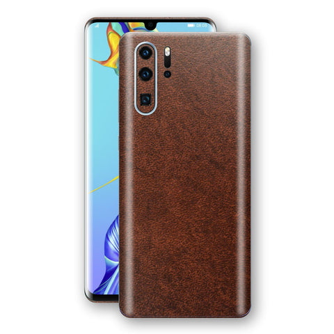 Huawei P30 PRO BROWN Leather Skin Wrap Decal Protector | EasySkinz