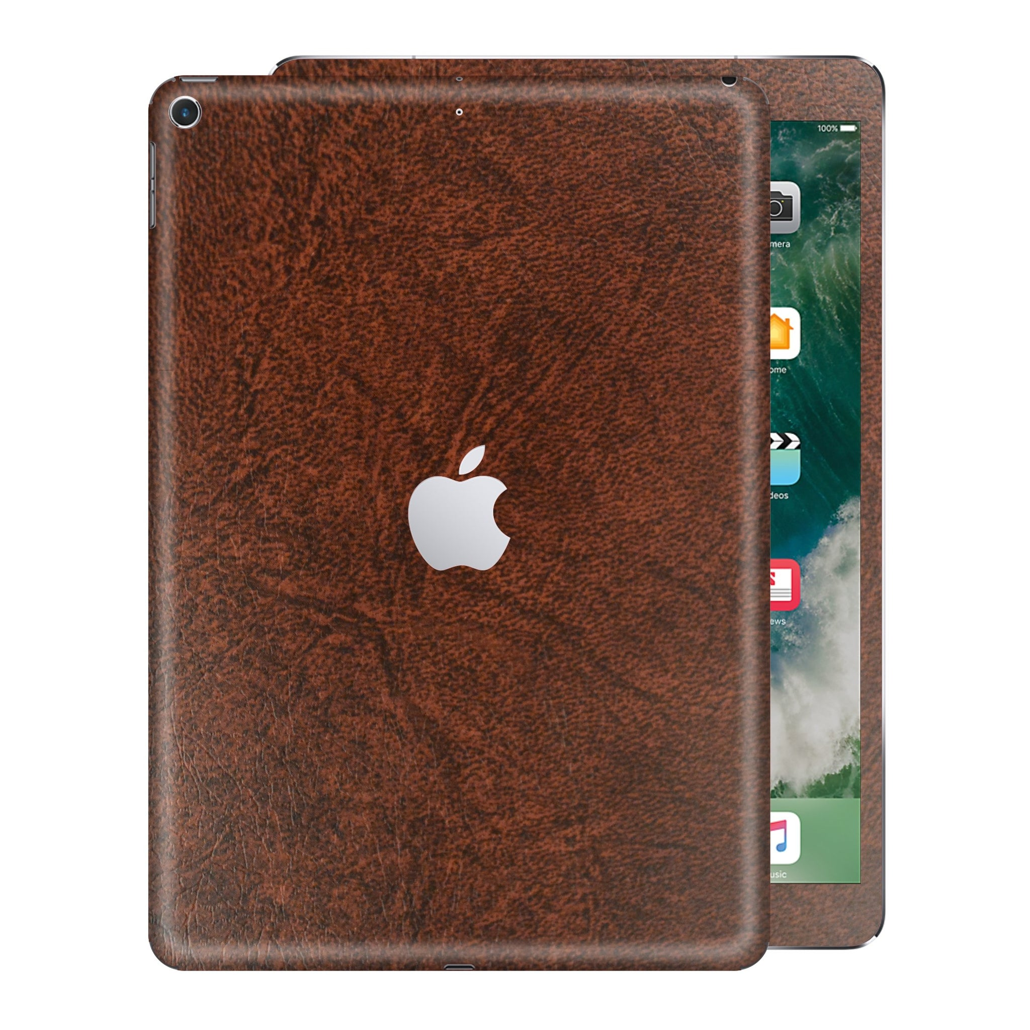 iPad 9.7 inch 2017 Luxuria Brown Leather Skin Wrap Sticker Decal Cover Protector by EasySkinz
