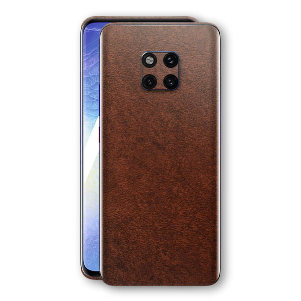 Huawei MATE 20 PRO Luxuria BROWN Leather Skin Wrap Decal Protector | EasySkinz