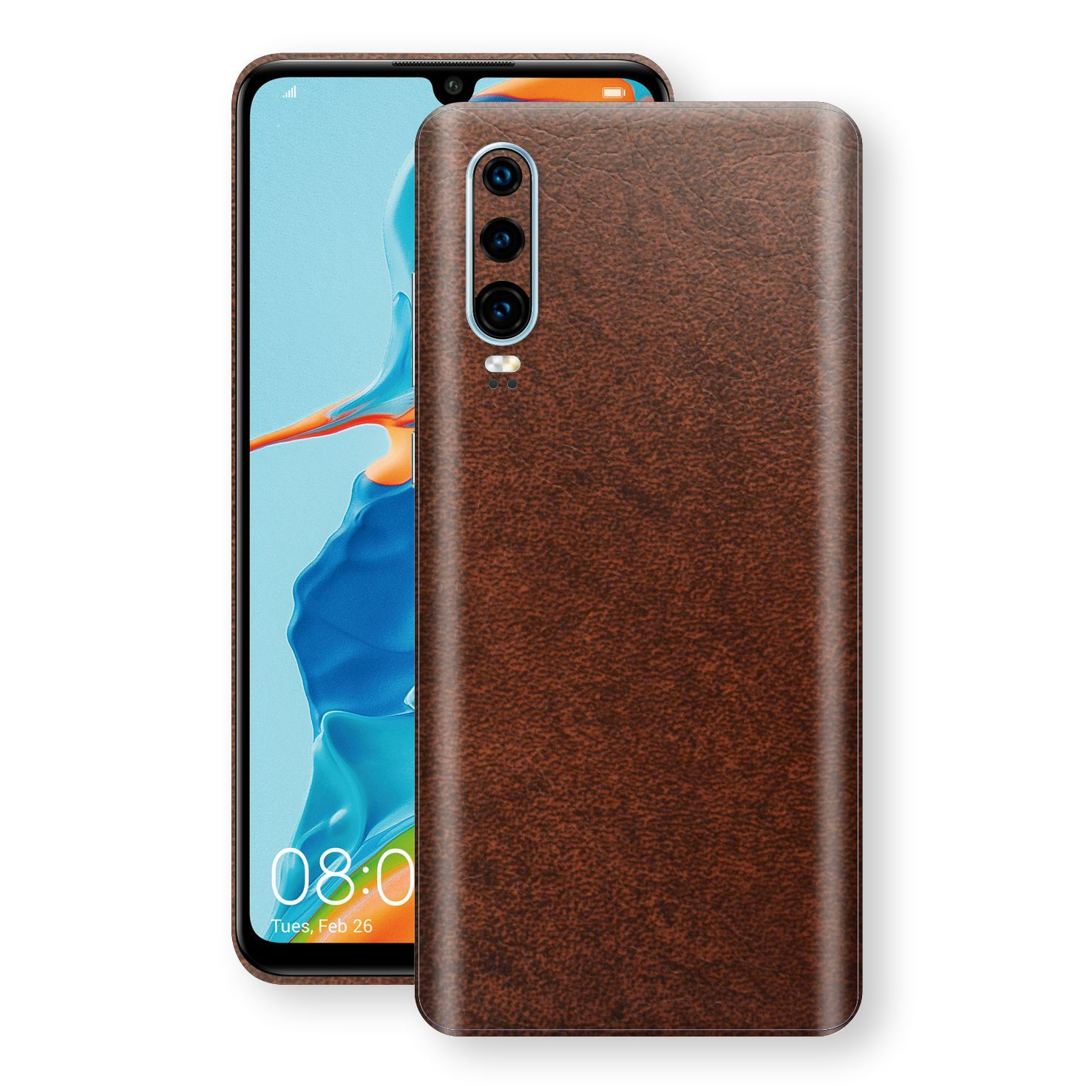 Huawei P30 BROWN Leather Skin Wrap Decal Protector | EasySkinz