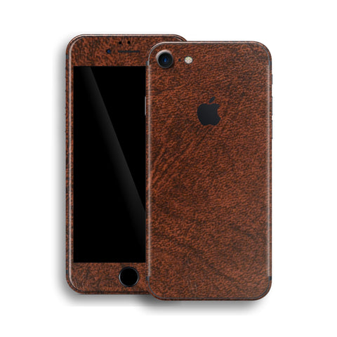 iPhone 8 Luxuria Brown Leather Skin Wrap Decal Protector | EasySkinz