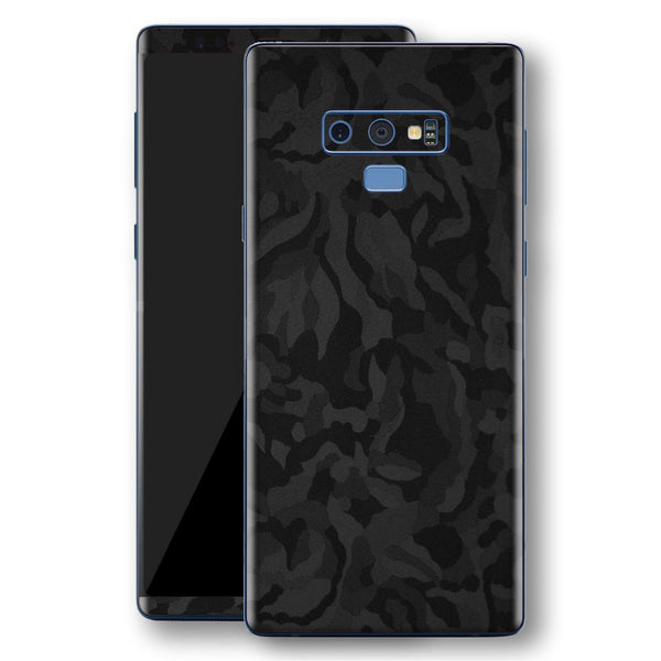 Samsung Galaxy NOTE 9 Black Camo Camouflage 3D Textured Skin Wrap Decal Protector | EasySkinz