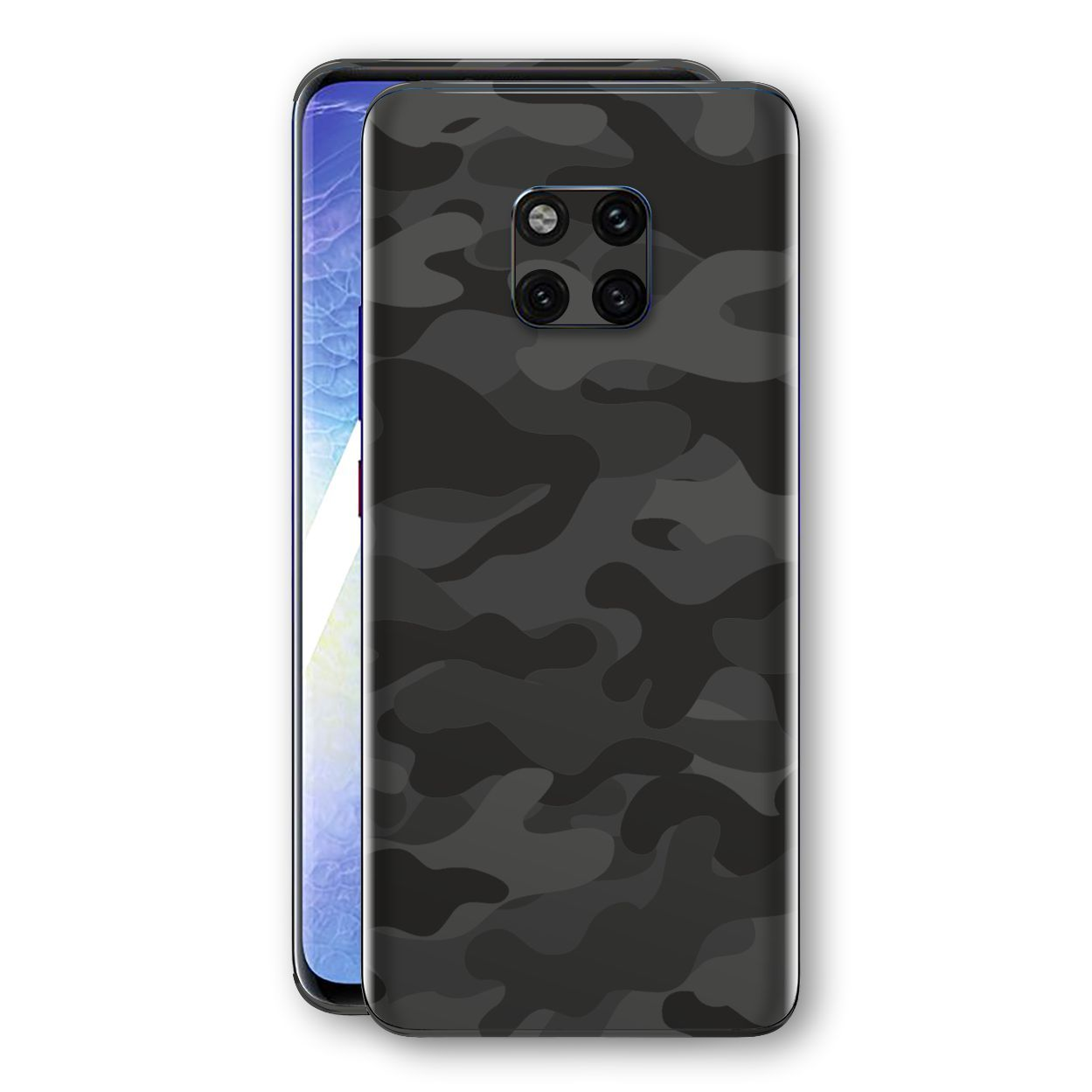 Huawei MATE 20 PRO Signature DARK SLATE CAMO Camouflage Skin Wrap Decal Cover by EasySkinz