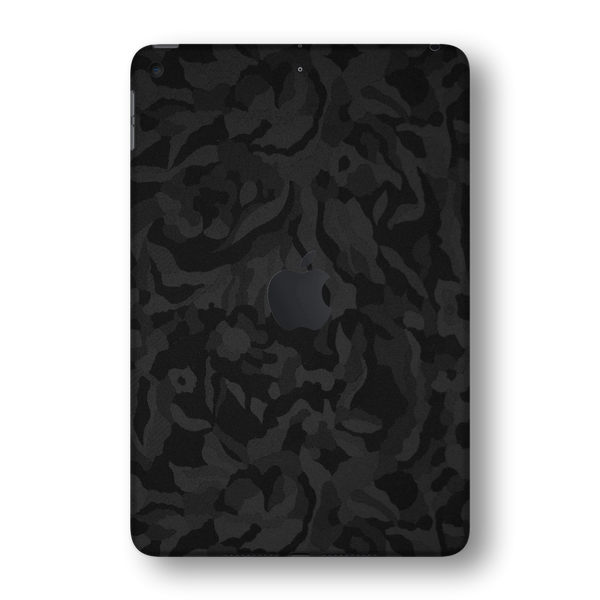 iPad MINI 5 (5th Generation 2019) Black Camo Camouflage 3D Textured Skin Wrap Sticker Decal Cover Protector by EasySkinz