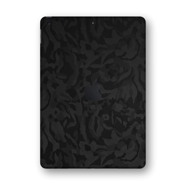 "iPad 10.2"" (7th Gen, 2019) Black Camo Camouflage 3D Textured Skin Wrap Sticker Decal Cover Protector by EasySkinz"