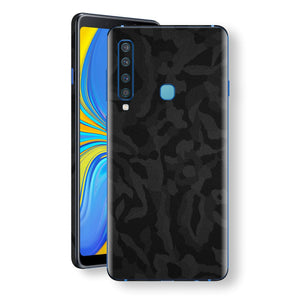 Samsung Galaxy A9 (2018) Black Camo Camouflage 3D Textured Skin Wrap Decal Protector | EasySkinz
