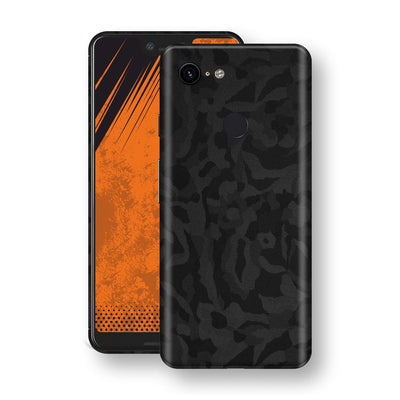 Google Pixel 3 XL Black Camo Camouflage 3D Textured Skin Wrap Decal Protector | EasySkinz