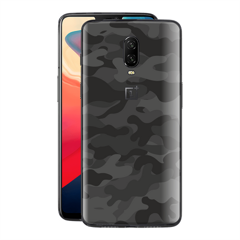 OnePlus 6T Signature DARK SLATE CAMO Camouflage Skin Wrap Decal Cover by EasySkinz