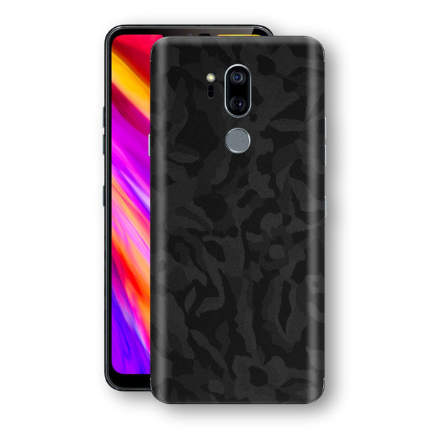 LG G7 ThinQ Black Camo Camouflage 3D Textured Skin Wrap Decal Protector | EasySkinz