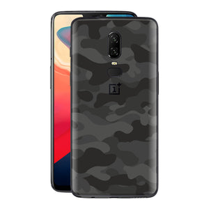 OnePlus 6 Signature DARK SLATE CAMO Camouflage Skin Wrap Decal Cover by EasySkinz