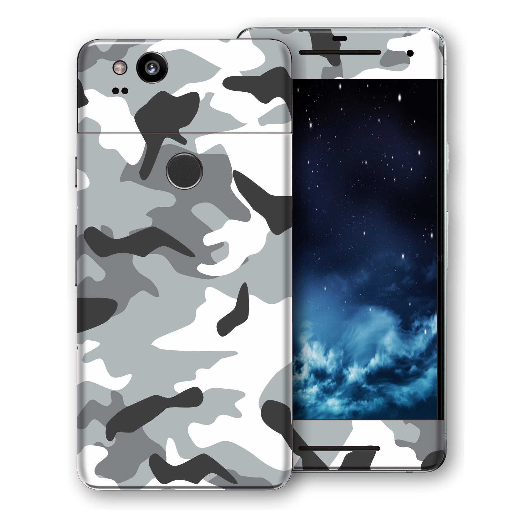 Google Pixel 2 Print Custom Signature Camouflage Grey Skin Wrap Decal by EasySkinz
