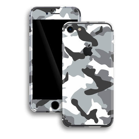 iPhone 7 Print Custom Signature GREY Camouflage Skin Wrap Decal by EasySkinz