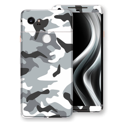Google Pixel 2 XL Print Custom Signature Camouflage Grey Skin Wrap Decal by EasySkinz