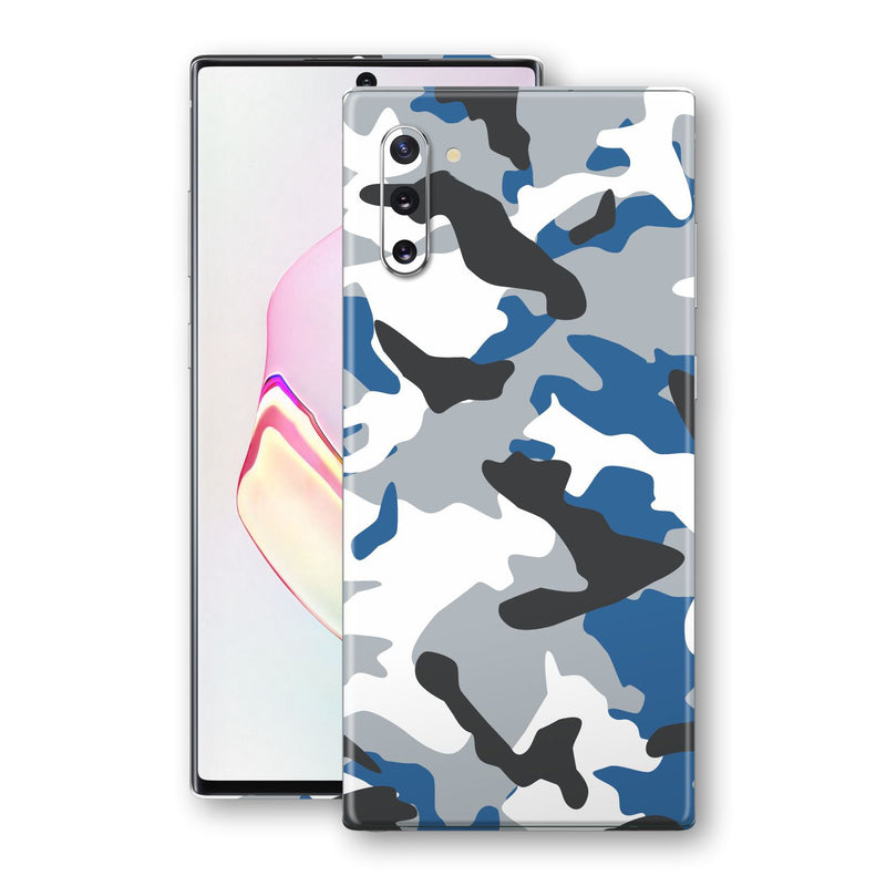 Samsung Galaxy NOTE 10 Print Custom Signature BLUE Camouflage Skin Wrap Decal by EasySkinz