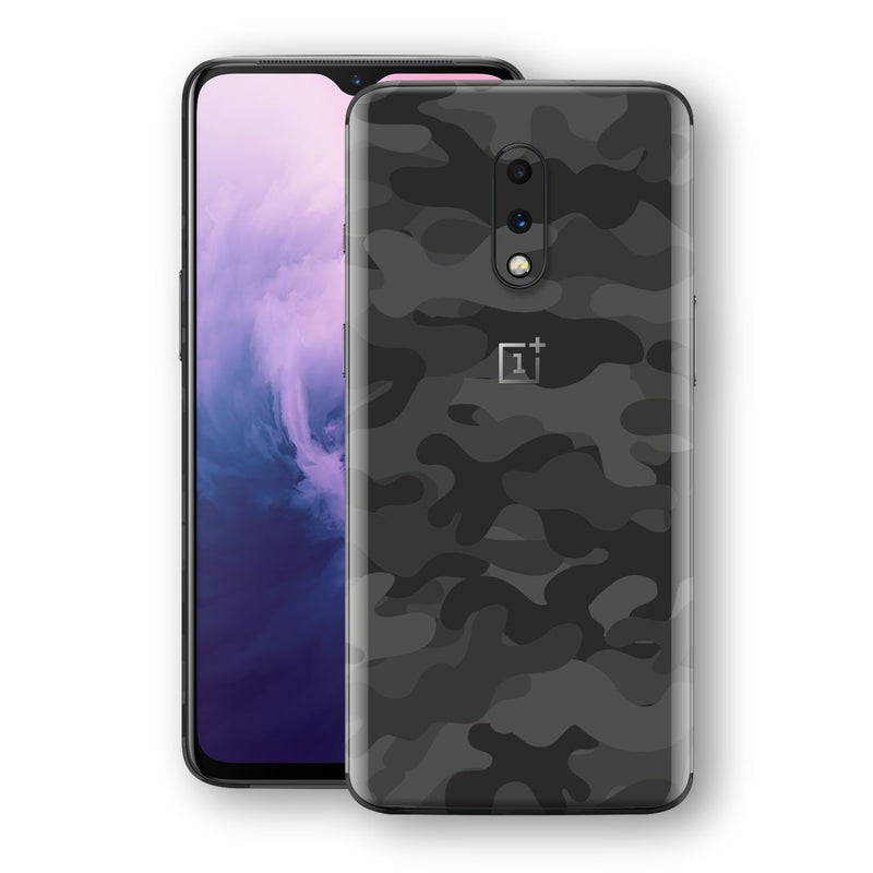 OnePlus 7 Signature DARK SLATE CAMO Camouflage Skin Wrap Decal Cover by EasySkinz