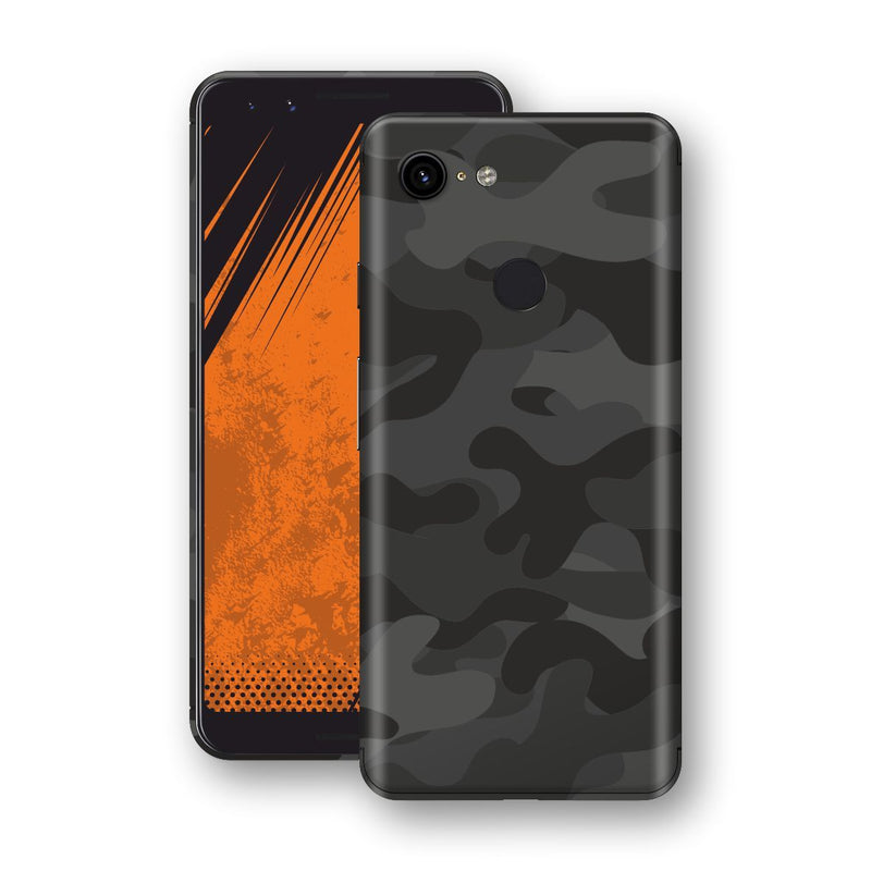 Google Pixel 3 Signature DARK SLATE CAMO Camouflage Skin Wrap Decal Cover by EasySkinz