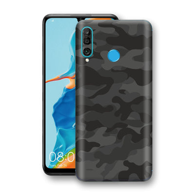 Huawei P30 LITE Signature DARK SLATE CAMO Camouflage Skin Wrap Decal Cover by EasySkinz