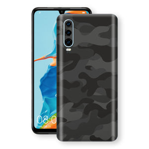 Huawei P30 Signature DARK SLATE CAMO Camouflage Skin Wrap Decal Cover by EasySkinz