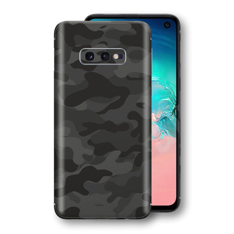 Samsung Galaxy S10e Signature DARK SLATE CAMO Camouflage Skin Wrap Decal Cover by EasySkinz