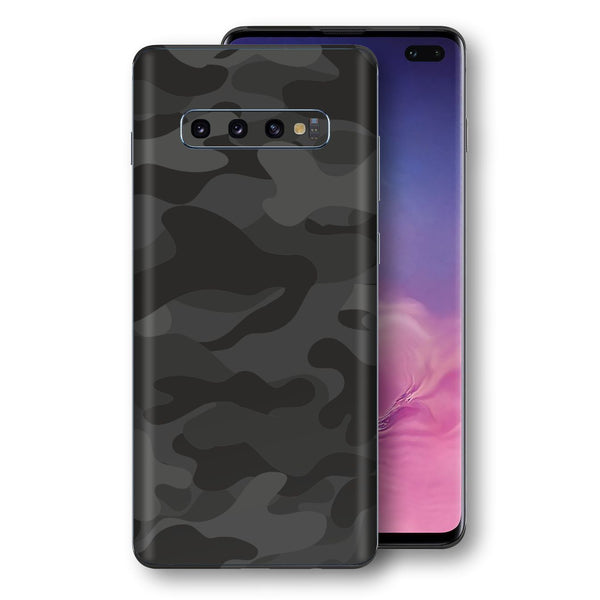 Samsung Galaxy S10+ PLUS Signature DARK SLATE CAMO Camouflage Skin Wrap Decal Cover by EasySkinz