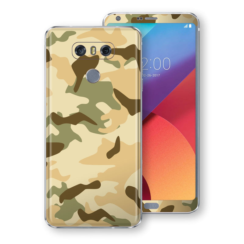 LG G6 Print Custom Signature Camouflage Desert Skin Wrap Decal by EasySkinz