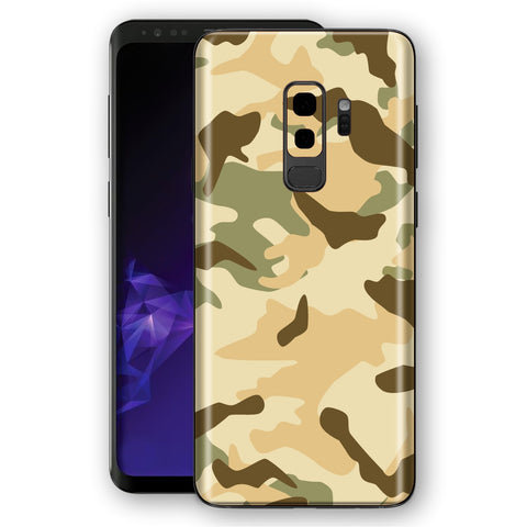 Samsung Galaxy S9+ PLUS Signature Desert Camouflage Skin, Decal, Wrap, Protector, Cover by EasySkinz | EasySkinz.com