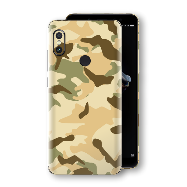 XIAOMI Redmi NOTE 5 Print Custom Signature Camouflage Desert Skin Wrap Decal by EasySkinz
