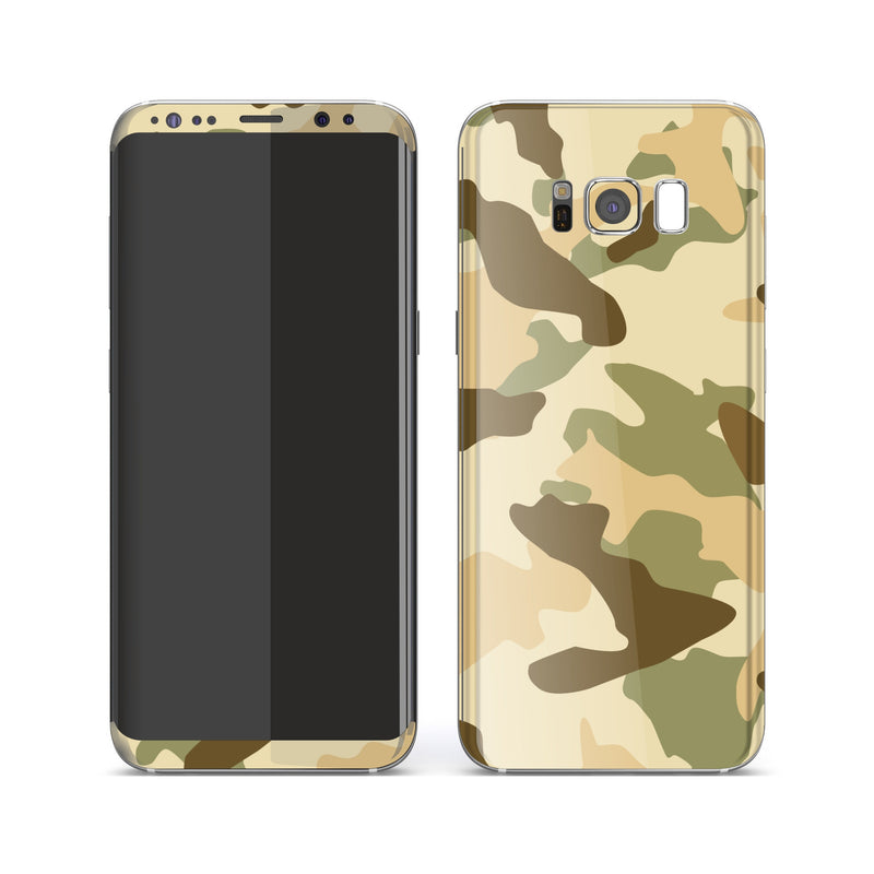 Samsung Galaxy S8 Print Custom Signature Camouflage Desert Skin Wrap Decal by EasySkinz