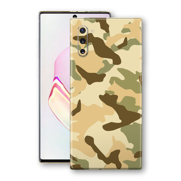 Samsung Galaxy NOTE 10 Print Custom Signature Camouflage Desert Skin Wrap Decal by EasySkinz