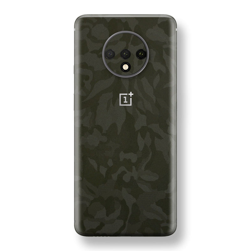 OnePlus 7T Green Camo Camouflage 3D Textured Skin Wrap Decal Protector | EasySkinz