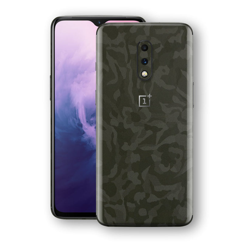 OnePlus 7 Green Camo Camouflage 3D Textured Skin Wrap Decal Protector | EasySkinz