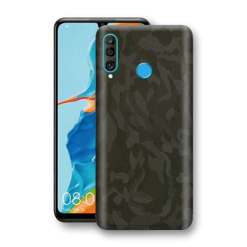 Huawei P30 LITE Green Camo Camouflage 3D Textured Skin Wrap Decal Protector | EasySkinz