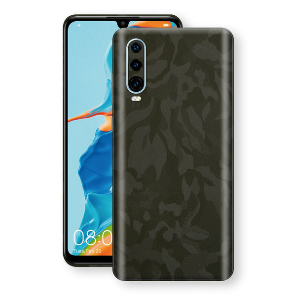 Huawei P30 Green Camo Camouflage 3D Textured Skin Wrap Decal Protector | EasySkinz