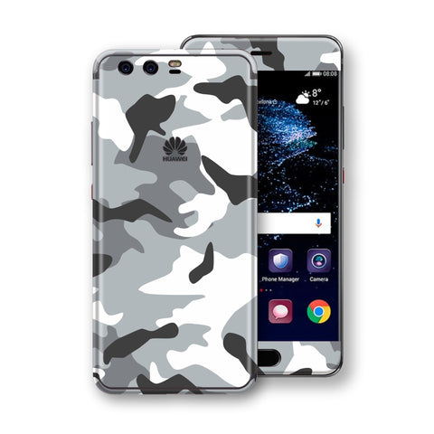 Huawei P10  Print Custom Signature Grey Camouflage Camo Skin Wrap Decal by EasySkin