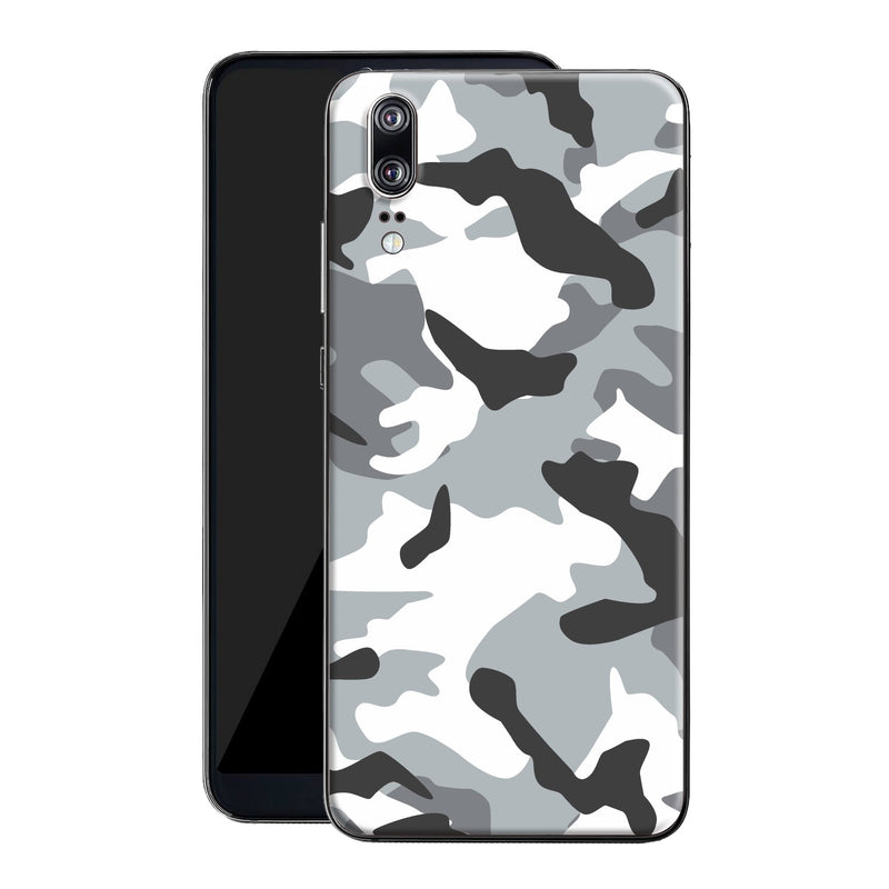 Huawei P20 Print Custom Signature Camouflage Grey Skin Wrap Decal by EasySkinz
