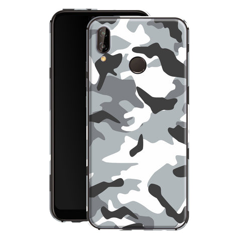 Huawei P20 LITE Print Custom Signature Camouflage Grey Skin Wrap Decal by EasySkinz