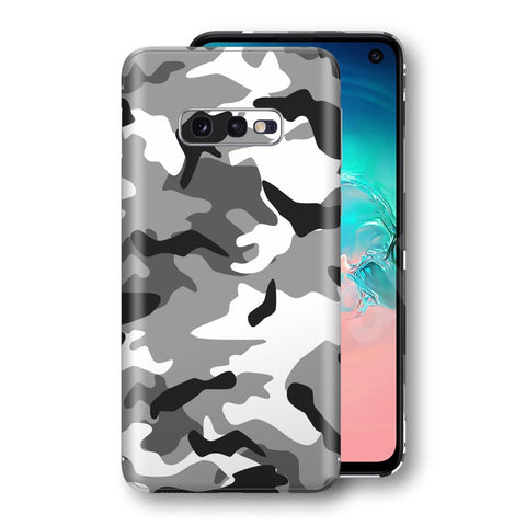 Samsung Galaxy S10e Print Custom Signature Grey Camouflage Camo Skin Wrap Decal by EasySkinz