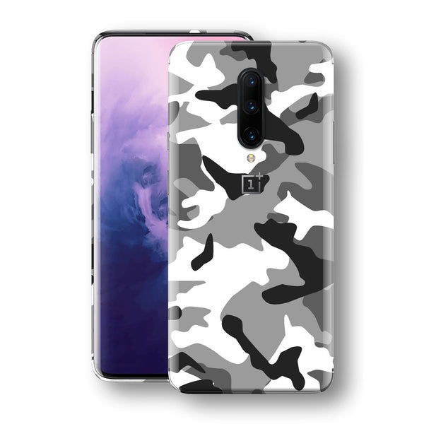 OnePlus 7 PRO Print Custom Signature Grey Camouflage Camo Skin Wrap Decal by EasySkinz