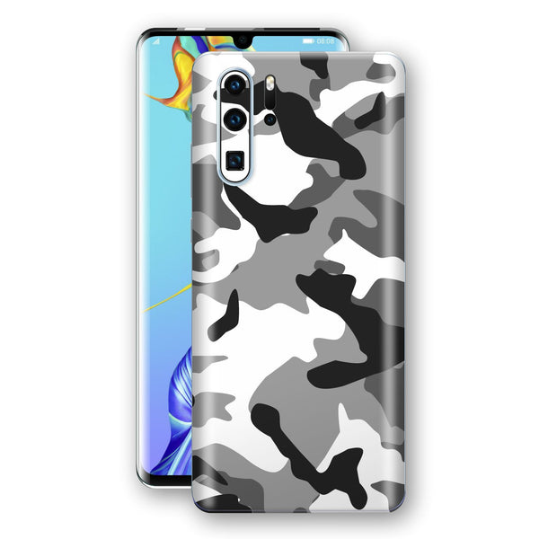 Huawei P30 PRO Print Custom Signature Grey Camouflage Camo Skin Wrap Decal by EasySkinz