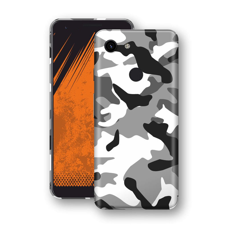 Google Pixel 3a Print Custom Signature Grey Camouflage Camo Skin Wrap Decal by EasySkinz
