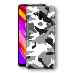 LG G7 ThinQ Print Custom Signature Grey Camouflage Camo Skin Wrap Decal by EasySkinz