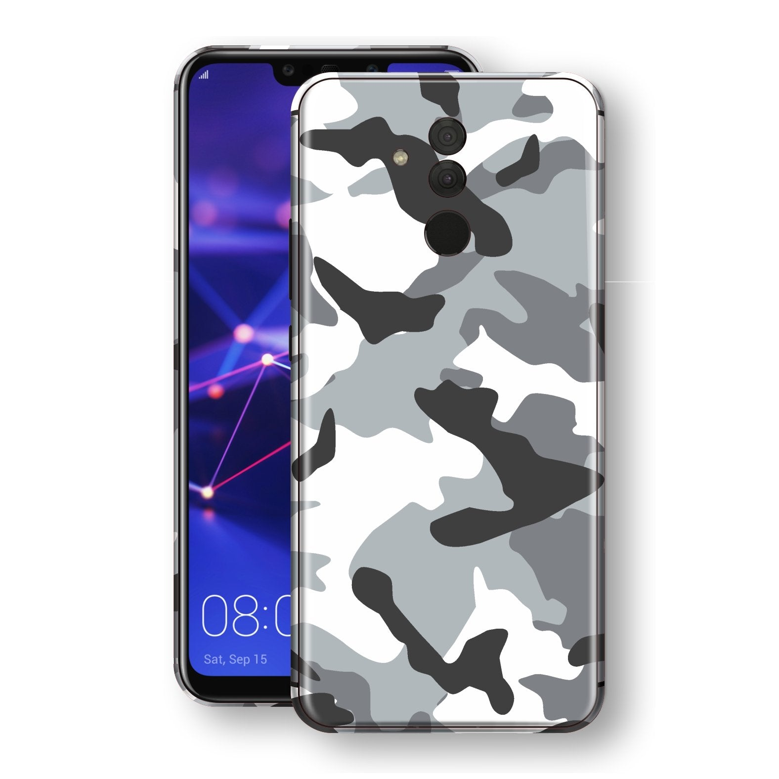 Huawei MATE 20 LITE Print Custom Signature Grey Camouflage Camo Skin Wrap Decal by EasySkinz
