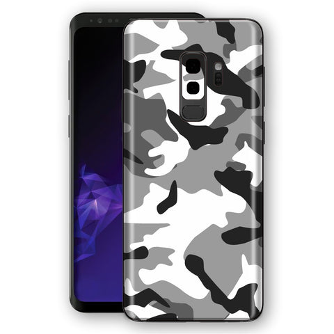 Samsung Galaxy S9+ PLUS Signature Grey Camouflage Skin, Decal, Wrap, Protector, Cover by EasySkinz | EasySkinz.com