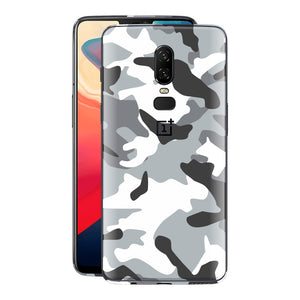 OnePlus 6 Print Custom Signature Camouflage Grey Skin Wrap Decal by EasySkinz