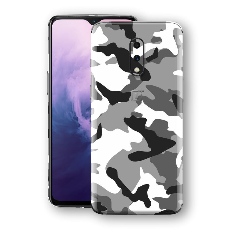 OnePlus 7 Print Custom Signature Grey Camouflage Camo Skin Wrap Decal by EasySkinz