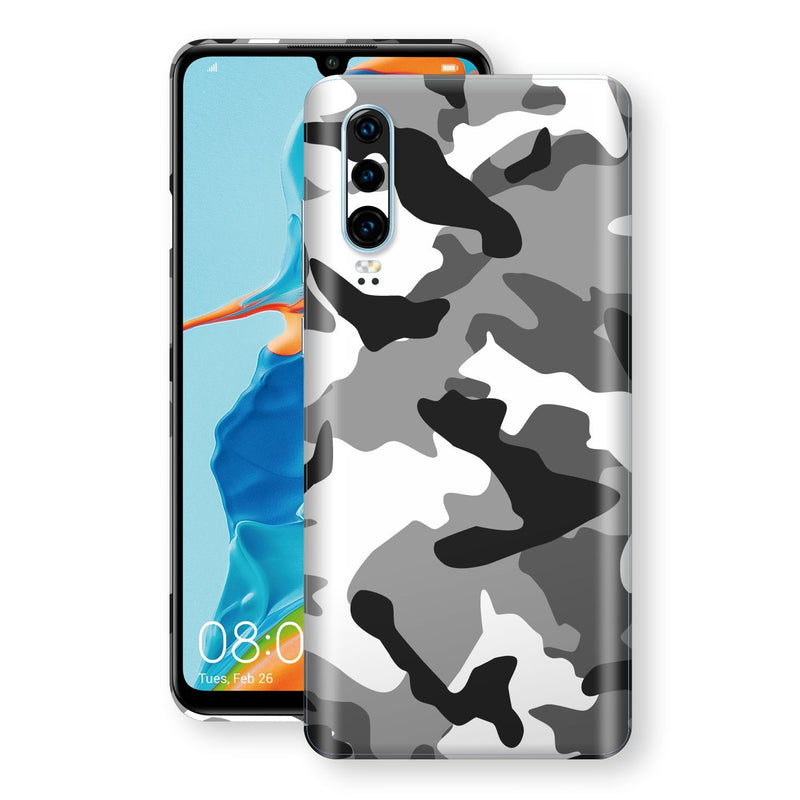 Huawei P30 Print Custom Signature Grey Camouflage Camo Skin Wrap Decal by EasySkinz