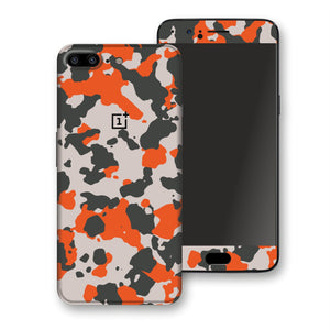 OnePlus 5 Camouflage Orange Skin, Decal, Wrap, Protector, Cover by EasySkinz | EasySkinz.com